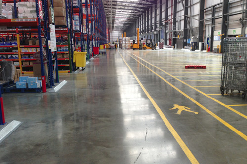 Concrete floor products